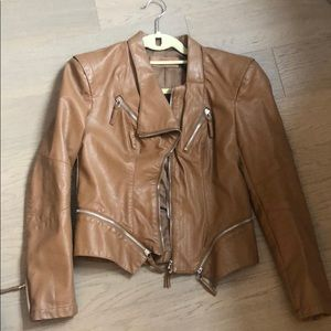 BlankNYC Camel (faux) leather jacket